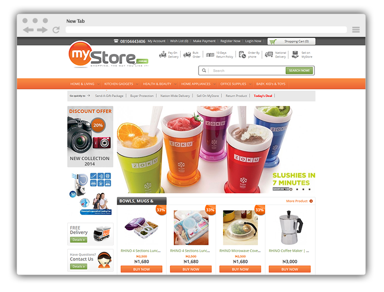 Run an online store with an ecommerce website in zimbabwe for Design online shop